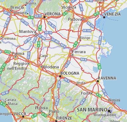 Mapa en Italiano