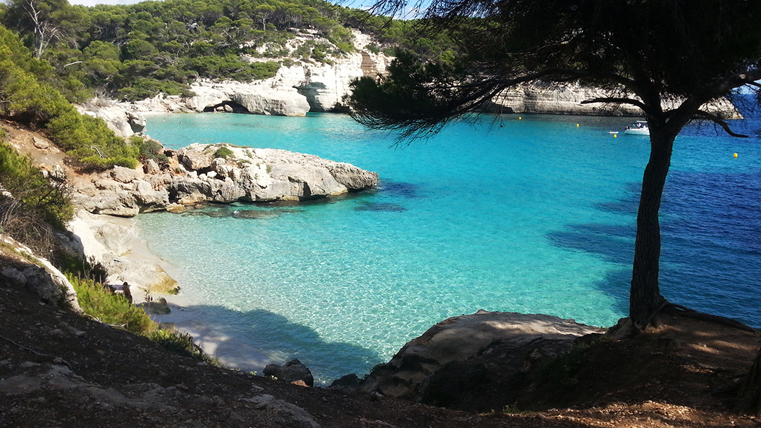 Una piscina natural de Menorca