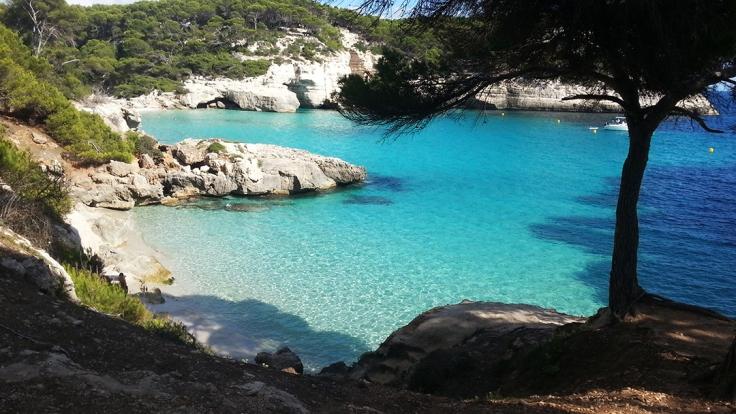 Una piscina natural de Menorca