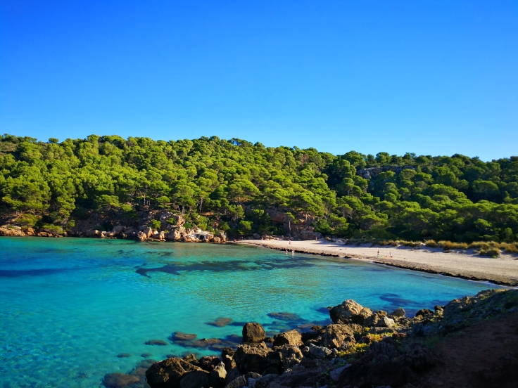 LA cala menos turística de Menorca.
