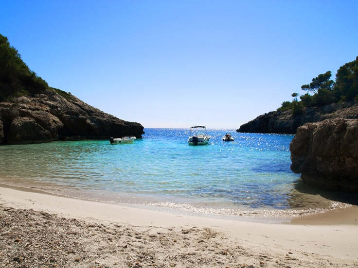 Cala Fustam en Menorca